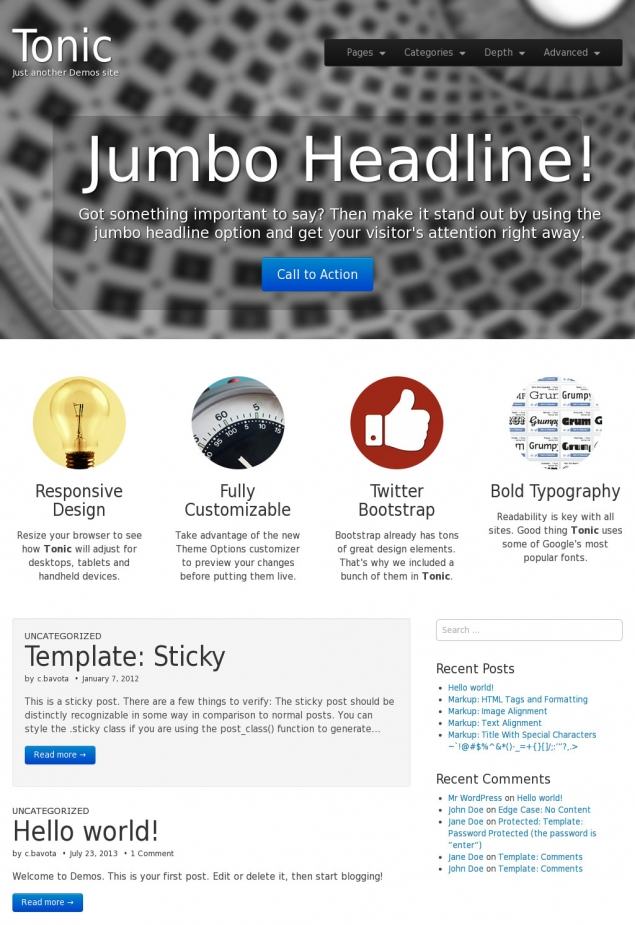 Tonic Bootstrap Template