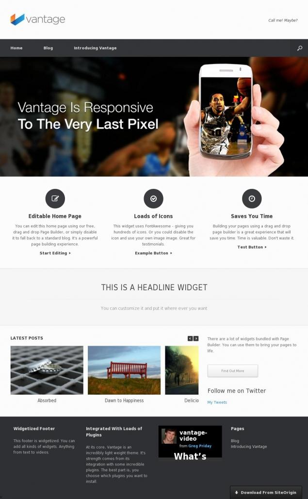 Vantage WordPress Template