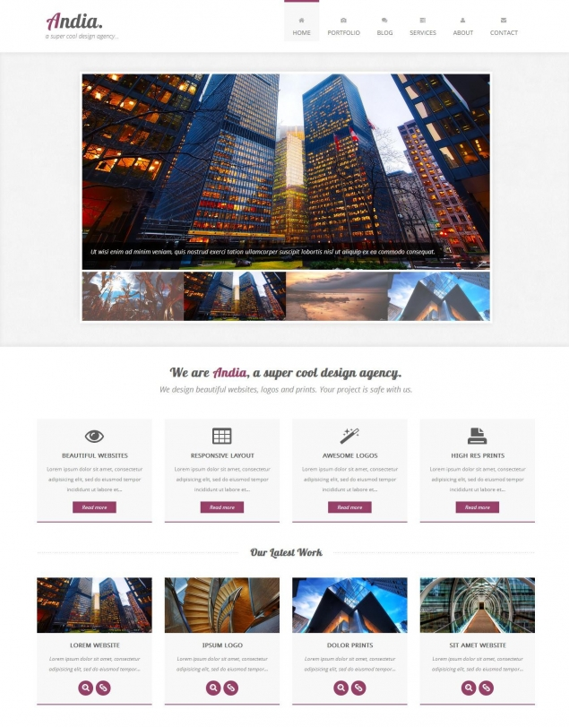 Andia Bootstrap Template