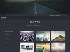 Brushed HTML Template