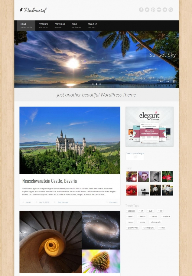 Pinboard WordPress Template